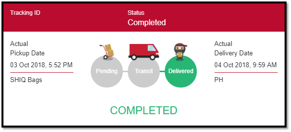What are the different kinds of order status? – Ninja Van PH